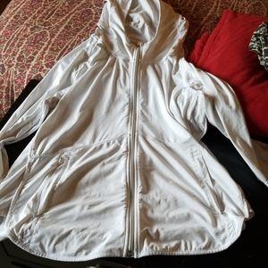 White Athleta sun shade hoodie